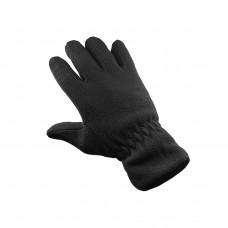 Перчатки флисовые двойные черные