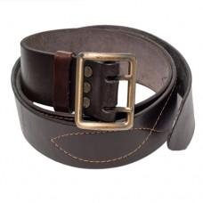 Ремень офицерский кожаный коричневый, портупея