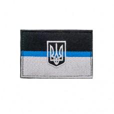 Флаг Украины синяя линия