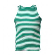 Тельняшка - майка(Тельник) 100% х/б, зелёная полоска