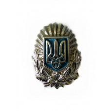 Кокарда МВД Украины (серебристая)
